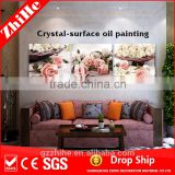 wholesale dropshipping 3d flower oil painting on canvas flower pot canvas painting for home decor