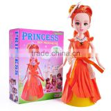 Baby girls toys children doll princess doll diy making kit best gift for kids