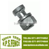 (China manufacture)Hot sale aluminum casted split bolt cable connector bolts for electric fence wire