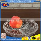 bubble clear partition round glass plate