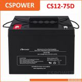 China supply 12V75Ah deep cycle AGM Battery - solar system