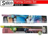 Children cartoon fishing rods Fishing combo set cheap fishing gears