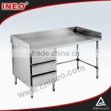Commercial Kitchen Stainless Steel Hotel Furniture With Drawer(INEO are professional on commercial kitchen project)