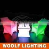 WOOLF WF-7190 led ktv use light single chair sofa, Plastic lit led furniture sofa chair