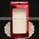 Aluminum paper retail cell phone case packaging,custom box packaging,cell phone packaging paper box