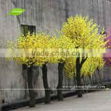 GNW BLS035 Decorative Cherry Trees Import China Fabirc Artificial Yellow Sakura Flower Tree for Hotel Decor