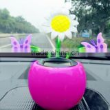 Dongguan Manufacturer 2015 Hot Sale New Style Flip Flap Solar Flower Toy , Solar Power Dancing toy For Car Accessary