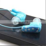 Zipper earphone slippers Earphone 3.5MM BASS MP4 MP3 Headphone earphone