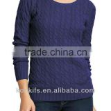 Women's Cable Boat-Neck Sweaters