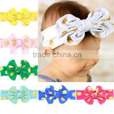 Baby Headwarp Knit Headwraps Custom Lovely Big Bowknot Shaped Elastic Baby Girls Hairbands