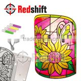 Window Paint Lamp Flower Educational toy child toy color your lamp diy