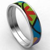 Bohemia Style Enameled Bangle Stainless Steel For Women