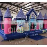 Popular inflatable princess bouncy castle moonwalk bouncer house jumping castle fun game for party