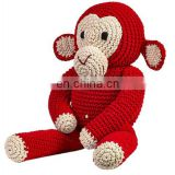 Hand Knitted plush toy crochet Toys Dolls promotional knit woven factory hand made knitted animal toy