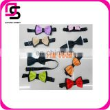 New 2014 fashion polyester double color mix adjustable decoration custom bow tie