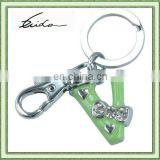 FANCY V SHAPED LETTER KEY RING