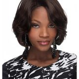Brown 12 Inches Chin Length Wavy Capless Bob Haircuts