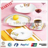 Porcelain Dinner Set/Customized Dinnerware Sets/Square Shape Plates Ceramic/Beautiful Decal Tea Coffee Cup & Saucer