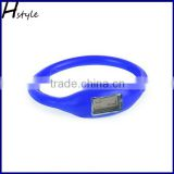 Rubber Digital Jelly Ion Sports Bracelet Wrist Watch Blue WP028                                                                         Quality Choice