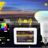 AC85-265V 2.4GHz RF Touch Remote Control E27 Smart WiFi LED Bulb Lamp 9W 850LM with Mi.Light WIFI APP Controller for Android IOS