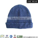 100% Acrylic Knitted Hat With Nep Yarn For Men