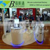 Modern oval center table for mobile phone, table stand for mobile phone, mobile phone display table