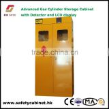 Advanced Gas Cylinder Storage Cabinet with gas leak detector and temperature,humidity alarm.