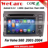Wecaro WC-VL7060 Android 4.4.4 car multimedia system double din for volvo s60 car radio audio system tv tuner 2001-2004                                                                         Quality Choice