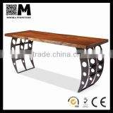 antique wooden home furniture industrial style solid wood reception table for sale