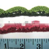 Lace Trimming, Rayon Crochet Fringe Trim Sew on 2yds