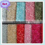 PU glitter leather fabric,fashion color glitter leather