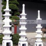 Outdoor Japanese Garden Stone Lanterns Set Of Three