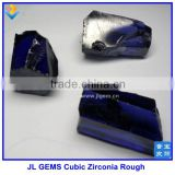 Synthetic Dark Blue Cubic Zirconia Rough Uncut Stones With Made in China