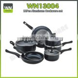 Aluminium cookware saucepan fry pan with induction bottom aluminium cookware set with good price