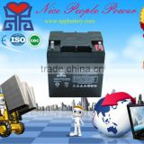small 12 volt battery manufacturer 12V24Ah AGM maintenace free rechargeable battery make in china