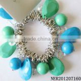 New Coming Stylish Beautiful Teardrop And Round Beads Magnetic Stretch Beaded Bracelet