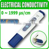 Digital LCD Electrical Conductivity Tester 0-1999 microSiemens per centimetre Water Aquarium EC Meter