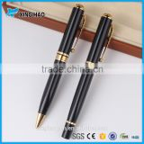 Hot sale promotion black metal pen luxurious metal ball pen with gift box promotional pen with logo