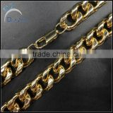 factory 14k plated gold men's hip hop cuban chains necklace                                                                         Quality Choice
