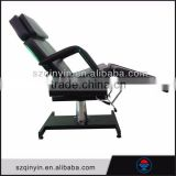 Salon furniture hot sale black leather used massage bed