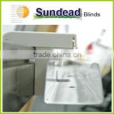 Adjustable curtain bracket for office curtain and blinds without screws with easy installation on window frame