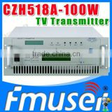 CZH6518A-100W Single-channel Analog TV Transmitter UHF 13-48 Channel portable digital tv transmitter