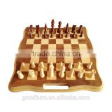 Solid Wood Folding Chess Set 3 In 1 Chess Game With King Height 3 Inch