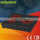 New deluxe design 3 burners built -in infrared ceramic stove/ induction cooker (CE.CB.RoHs)