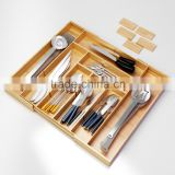 Best Flatware Kitchen Drawer Organizer Eliminate Clutter with Adjustable Dividers and Expendable Bamboo Utensil Tray holder