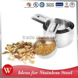 High quality food metal stainless steel measuring cups 6 pcs                                                                         Quality Choice                                                                     Supplier's Choice