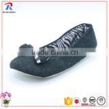 2016 new style wholesale china made plush ballet shoes