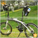 Wholesale portable durable sports bicycle saddle bag with bottle holder