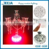 Multicolor 6 inch LED spot vase base decorative items for events with battery operated