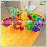 2016 newest factory direct customizable colorful nylon rope hand crocheted kids playground